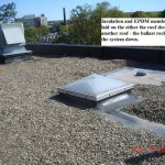 Ballasted Non-Reinforced EPDM roof example