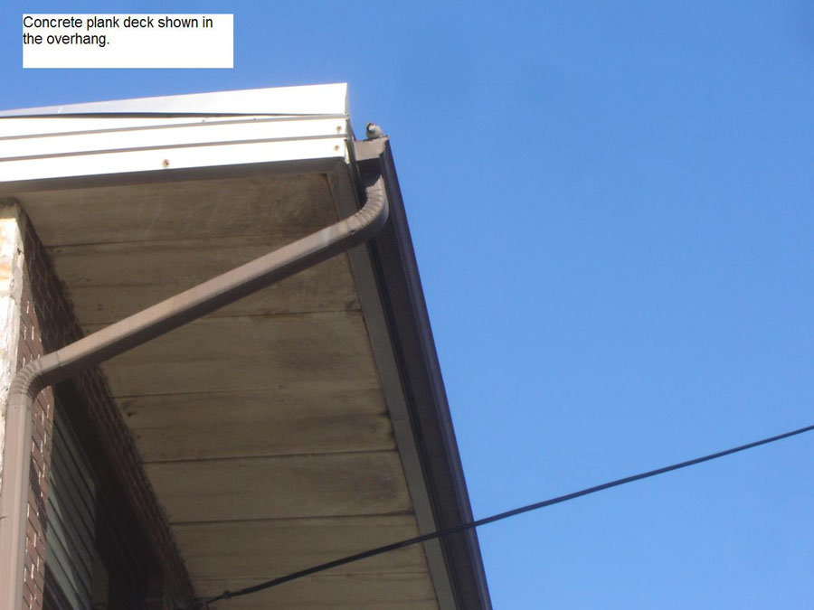 Superior Concrete Plank Roof Deck Shown In The Overhang.