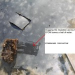 Wet fiberboard roof insulation example