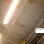 Gypsum or lightweight concrete roof deck.