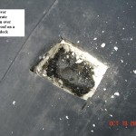 EPDM over isocyanurate insulation over asphalt roof on a gypsum deck - example
