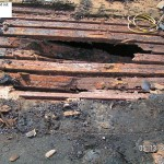 Steel roof deck - rotted out - example