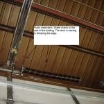 Rusty metal roof deck - example